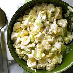 Classic Potato Salad is the perfect comfort food for potlucks! More comfort food recipes: http://www.bhg.com/recipes/dinner/comfort-food-recipes/?socsrc=bhgpin02092014classicpotatosalad&page=18