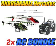 Hercules and Camo Hercules Unbreakable 3.5CH RC Helicopter Bundle