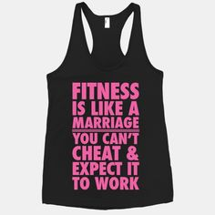 Fitness Is Like Marriage #fitness #workout #funny #marriage #cheat #sweat #gym #motivation