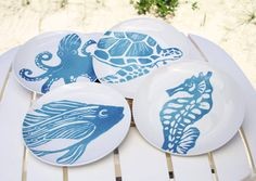 Sea Life Dinner Plates | OceanStyles.com