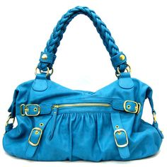 A great purse, love this shade of blue.