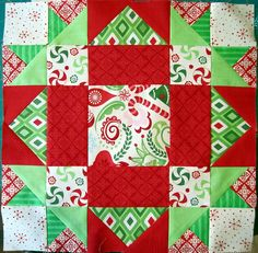 a Christmas themed quilt