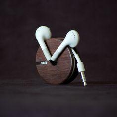 product, phone holder, wood earbud, modern man, gadget, earbud holder, ears, organizers, industrial design