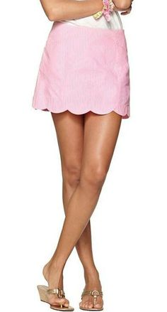 Lilly Pulitzer January Scallop Hem Skort in PB Pink Lucky Seersucker. I have it in green but I can never have too much seersucker or scalloped clothes!