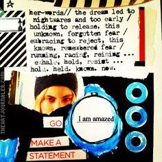 charmed collage // #iamtaj #artjournal