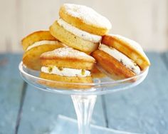 Passion fruit whoopie pies filled with zingy cream cheese food recipes, whoopi pie, cake recip, pie recipes, jame martin, martin recip, passion fruit, whoopie pies, fruit whoopi
