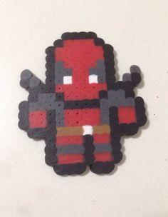 Marvel Deadpool 8Bit Perler Bead Sprite by GothamCityCrafts, $5.00
