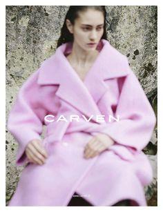 Carven Fall 2013: Marine Deleeuw photographed by Viviane Sassen