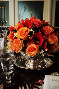 Adding florals is essential to creating a complete table setting