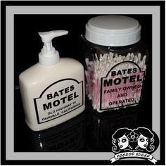"""Bates Motel"" Soap Dispenser and Q-Tip Holder by Voodoo Sugar"