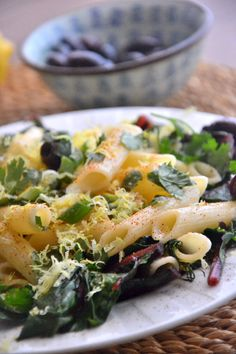 Swiss Chard Lemon Pasta from the @TheHealthyApple