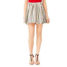 Kate Spade Saturday  Full Skirt in Woven Strata Stripe