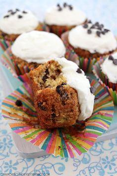 Chocolate Chip Zucchini Cupcakes #recipes