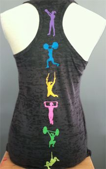 Womens B/O Razor Back Tank Top with Fitness Moves-Could do this with sports that the kids are involved with.
