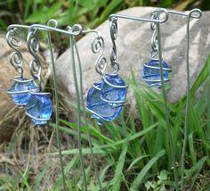 Wire Wrap Plant Stakes Garden Art Whimsy Fairy by brambleoak, $10.00
