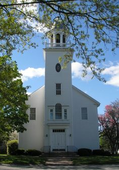 Milford Congregation Church, Milford, Mass - this was where I was baptized