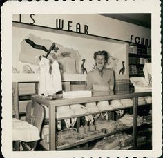 vintage photo Sales Lady Department Store by maclancy on Etsy