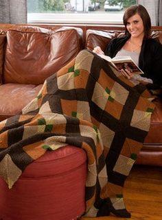 Tilework Afghan Pattern - Free Knitting Patterns by Kerin Dimeler- Laurence