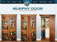 Home page of The Murphy Door Inc.  The leader in hidden doors and secret passage.