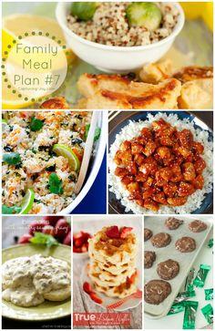 Family Meal Plan #7 - from KristenDuke.com our family dinner recipes for the week