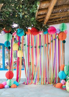 Colorful photo-booth backdrop