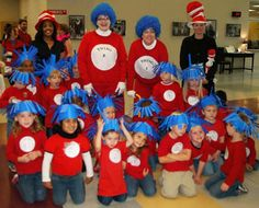 Dr. Seuss Week @Starla Harlow we should do this and tell our classes to wear red shirts, your class can be thing 1s and mine thing 2s...we can have them partner read and stuff...