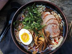 Shoyu Ramen Recipe  at Epicurious.com