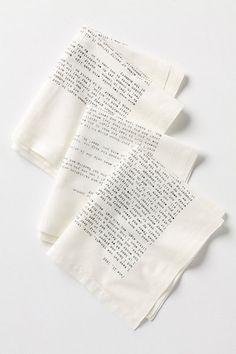 Literary Correspondence Napkin Set