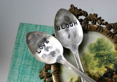 Love and Bloom Vintage Silverware Garden by monkeysalwayslook