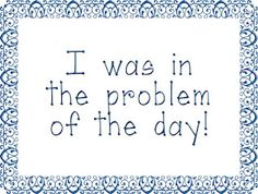 The Problem of the Day: An Easy Math Routine