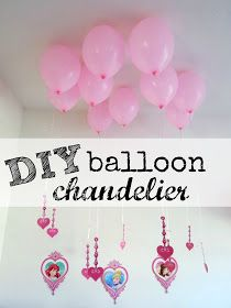 DIY Balloon Chandelier, balloon Chandelier, Disney Princess chandelier #DreamParty #shop