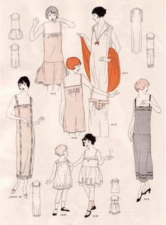 Vintage Sewing Pattern Instructions 1920's Flapper Easy Lingerie Ebook PDF Depew 3003. $7.50, via Etsy.