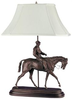 JOCKEY BOY AND HORSE LAMP