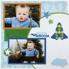 VROOM Rugged Boy Additions #Scrapbook Layout Page Idea from Creative Memories    http://www.creativememories.com