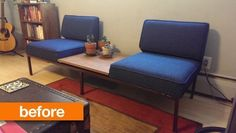 Before & After: A 60's Style Settee Sings