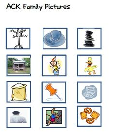 720 Downloads.  FREE Word Family Packet-ACK Family