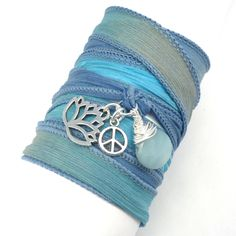 Lotus Silk Wrap Bracelet