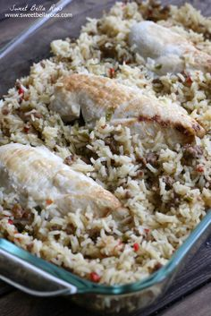 The Best Ever Chicken and Rice (so good, no canned soup!)