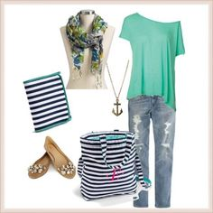 Thirty one navy wave style.