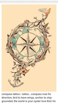 A little too ornate, but I like the bird at one end the anchor at the other to keep you grounded. Love symbolism!