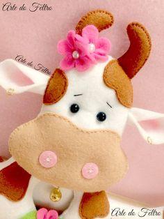 Корова из фетра
