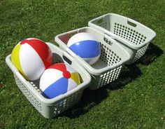 Image detail for -beach ball baskets you throw the beach balls into the
