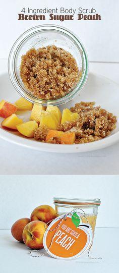 Peach & Brown Sugar Body Scrub