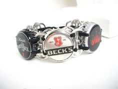 Beer Bracelet  Soda Tab/ Beer Cap Wristband  Choose by FabTabulous,