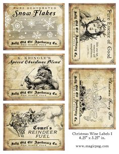 Old fashioned labels 3