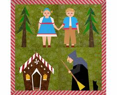 Hansel and Gretel Set of 4 paper pieced quilt block patterns PDF. $7.90, via Etsy.