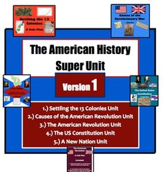 The American History Super Unit:  Version 1 **5 Units in 1 Purchase***Save over 20%**