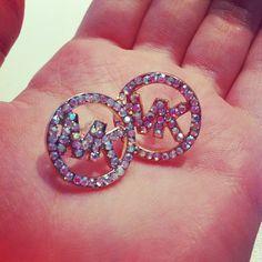 <3<3 michael cor, fashion, style, accessori, michael kors3, lil bling, jewelri, cor earring, earrings
