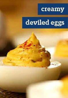 Creamy Deviled Eggs -- You may want to double the recipe for this favorite appetizer.