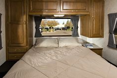 Don't overlook the comfort of a private master bedroom in an RV.     rv, rvs, recreational vehicle, rv floor plan, RV master bedroom, rv travel